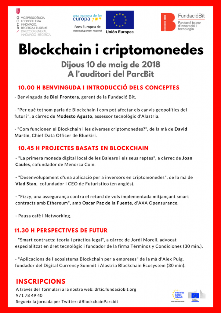 Jornada BlockChain i Criptomonedes 10.05 Parc Bit Palma de Mallorca (1)